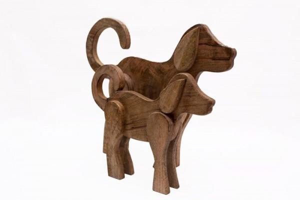 Holz Hunde Figuren