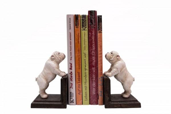 Buchstützenset Bulldogge
