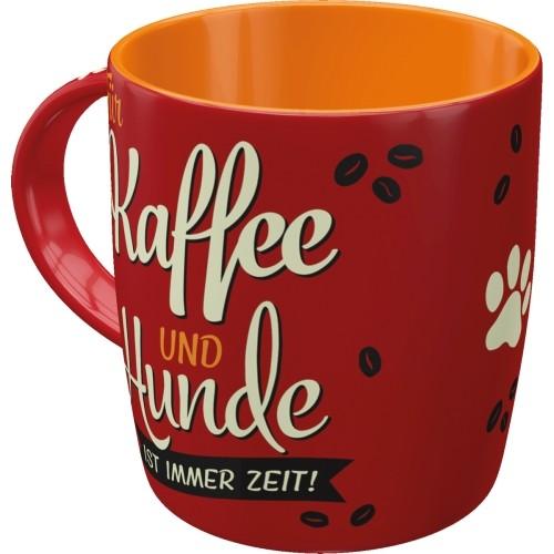 Tasse Kaffe und Hund