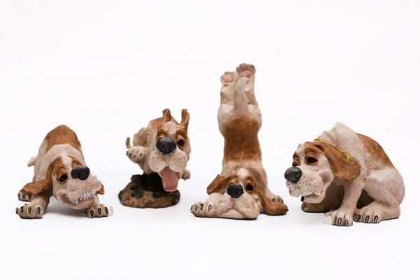 lachende Hunde im Set